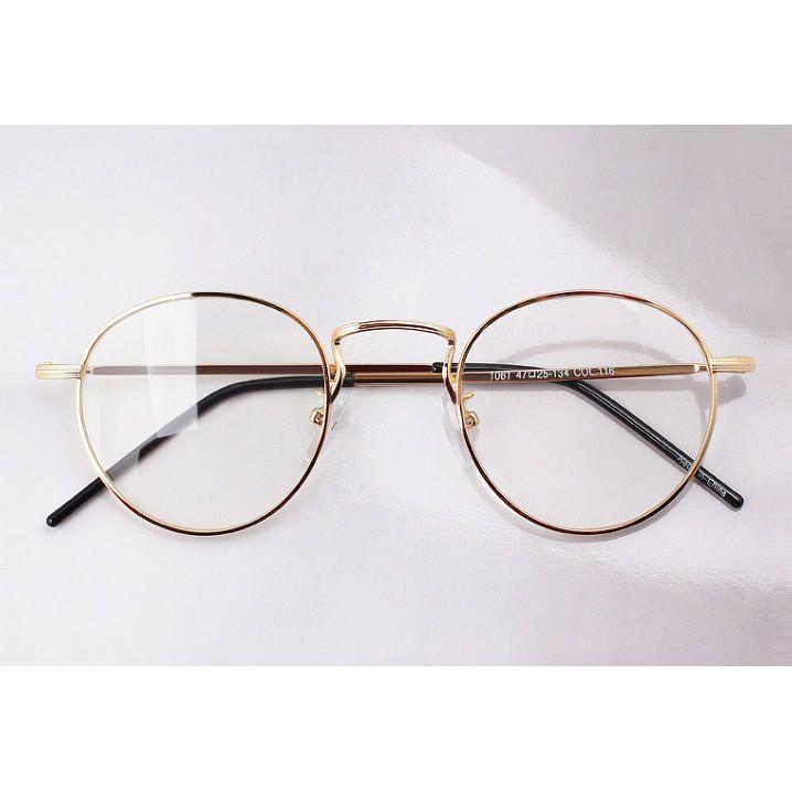 20er Jahre Vintage Frame Runde Oliver Retro Clear Lens Brillen 10e61 Gold Eyewear