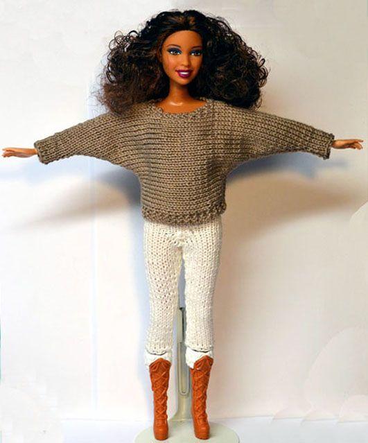 dress barbie knitting google ideas knit for barbie dolls pinterest barbie. Black Bedroom Furniture Sets. Home Design Ideas