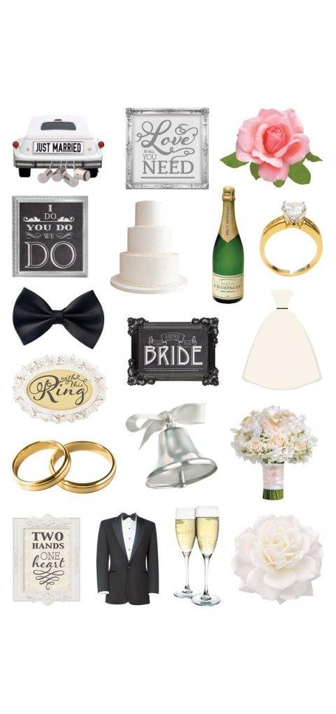 Wedding Diecut Sticker Pack 399 Embellishments Pinterest