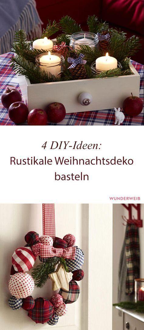 4 DIY-Ideen: Rustikale Weihnachtsdeko basteln | Wunderweib #diyideas