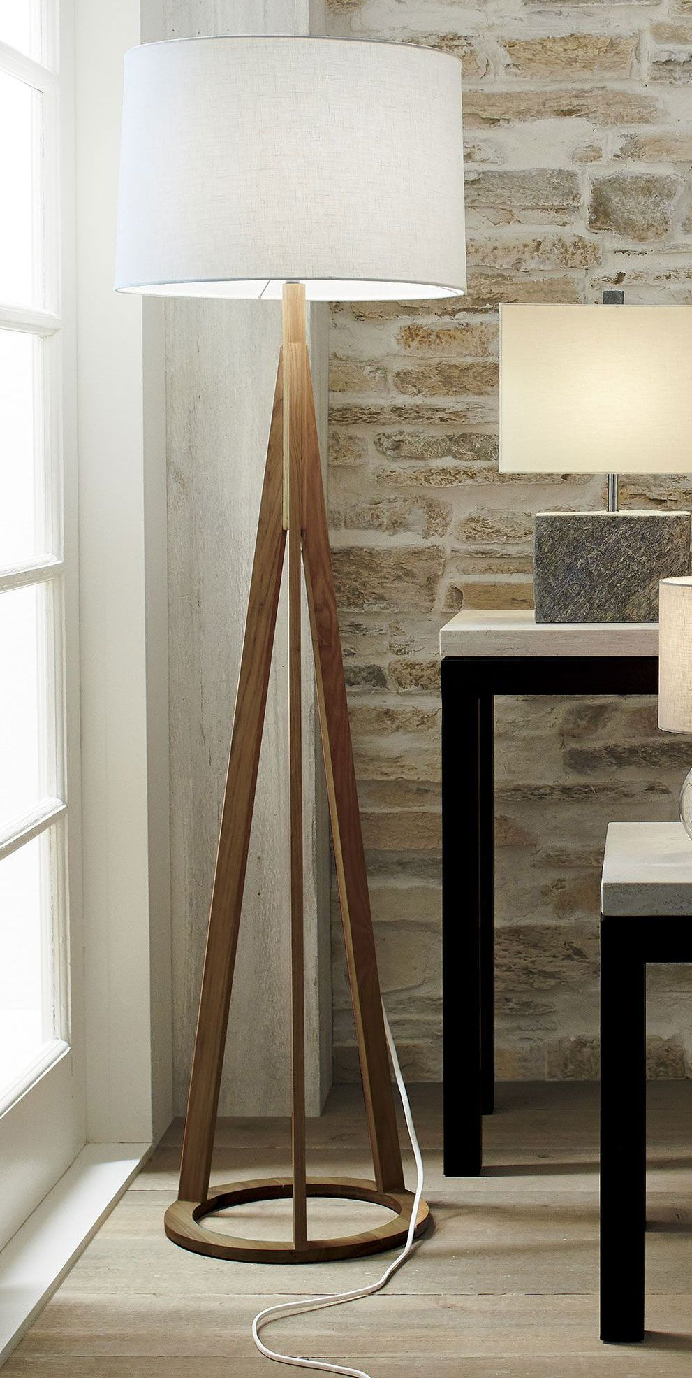 Jackson Natural Tripod Floor Lamp In 2020 Modern Floor