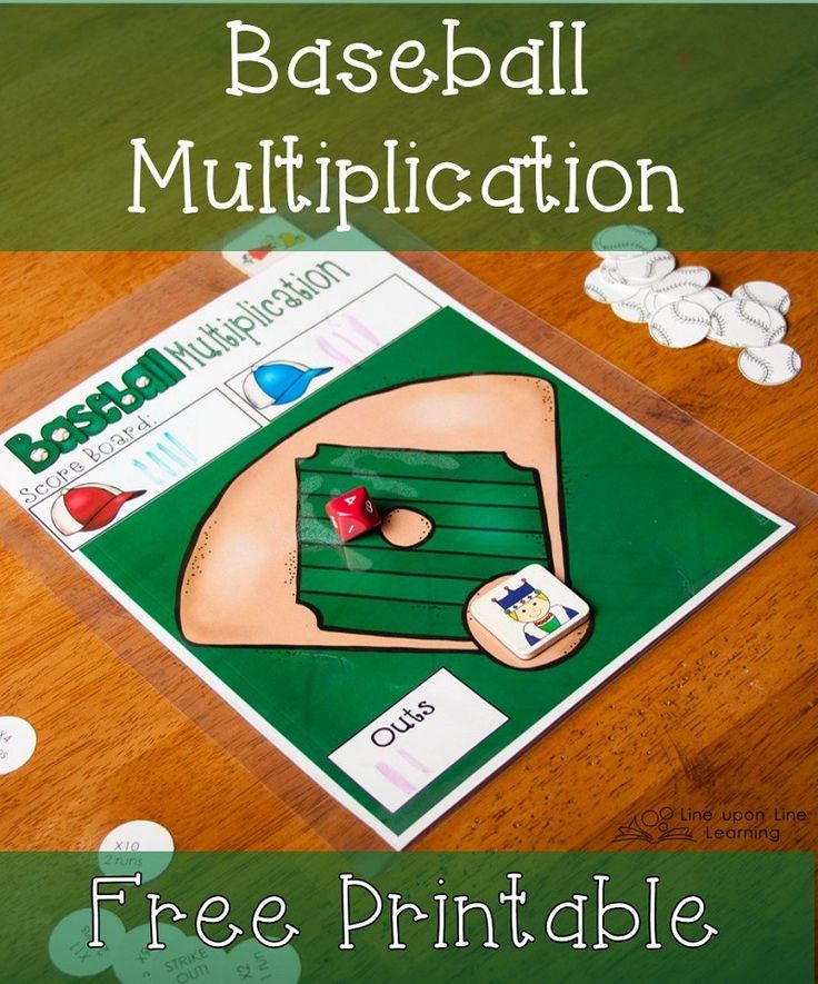 Baseball Multiplication Game With Ten Sided Dice Line Upon Line Learning Multiplication Games Multiplication Math Multiplication