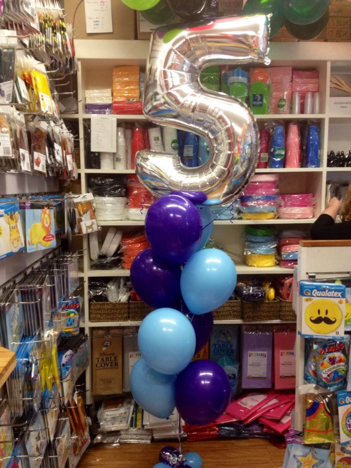 Latex balloons Silver 5 megaloon with eight