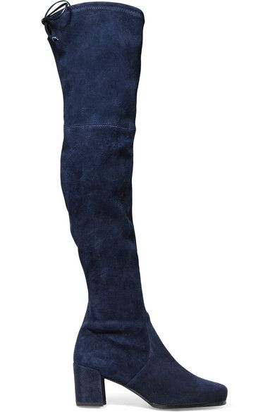 94967b74ef2 STUART WEITZMAN Hinterland Stretch-Suede Over-The-Knee Boots.   stuartweitzman  shoes  boots