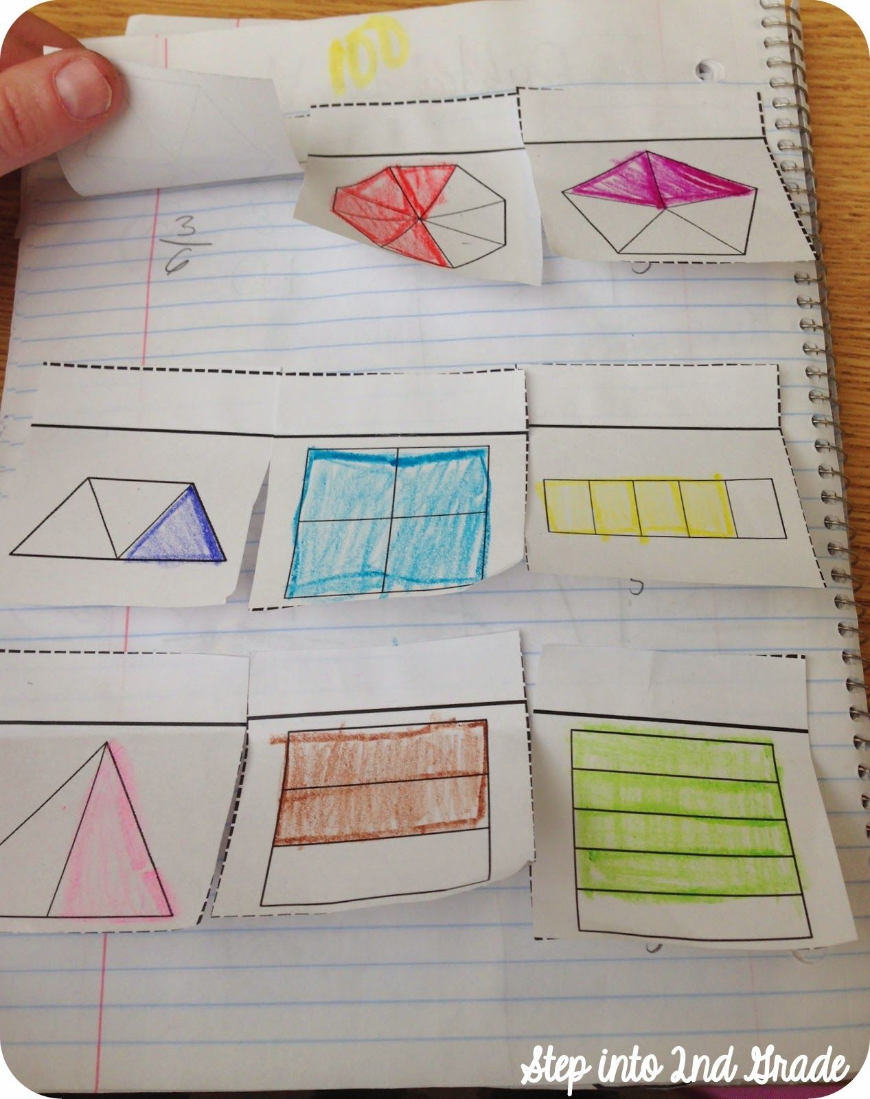 Fraction Interactive Notebook Step Into 2nd Grade With