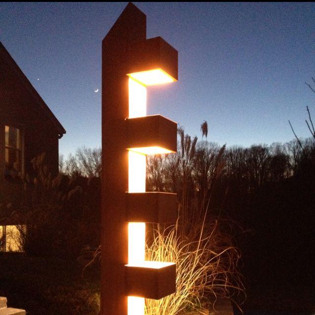 frank lloyd wright outdoor lighting. Frank Lloyd Wright Inspired Light Post Noah Built For Our Driveway. Love It! Outdoor Lighting Pinterest