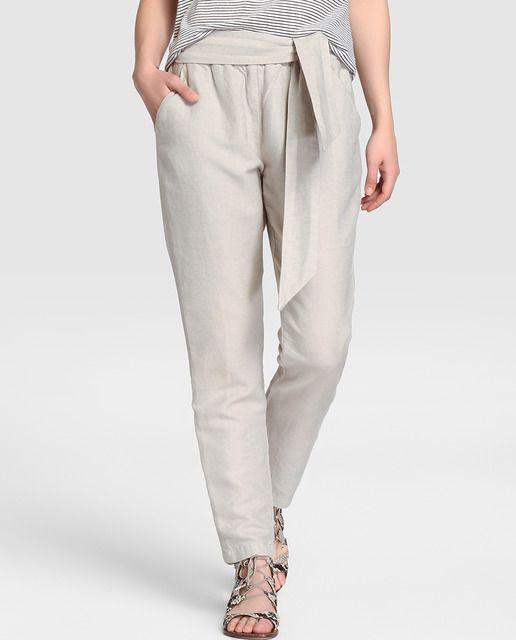 BeigeRopaa Ancho Mujer 2019 Cotton Southern De Pantalón En rQthsd