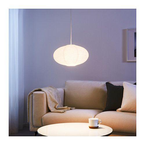 SOLLEFTE… Pendant lamp shade round white white