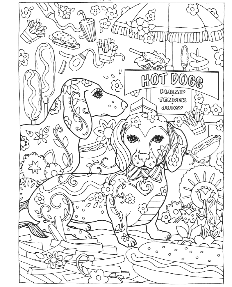 go dog go coloring pages | Gyazo - Amazon.com: Creative Haven Dazzling Dogs Coloring ...