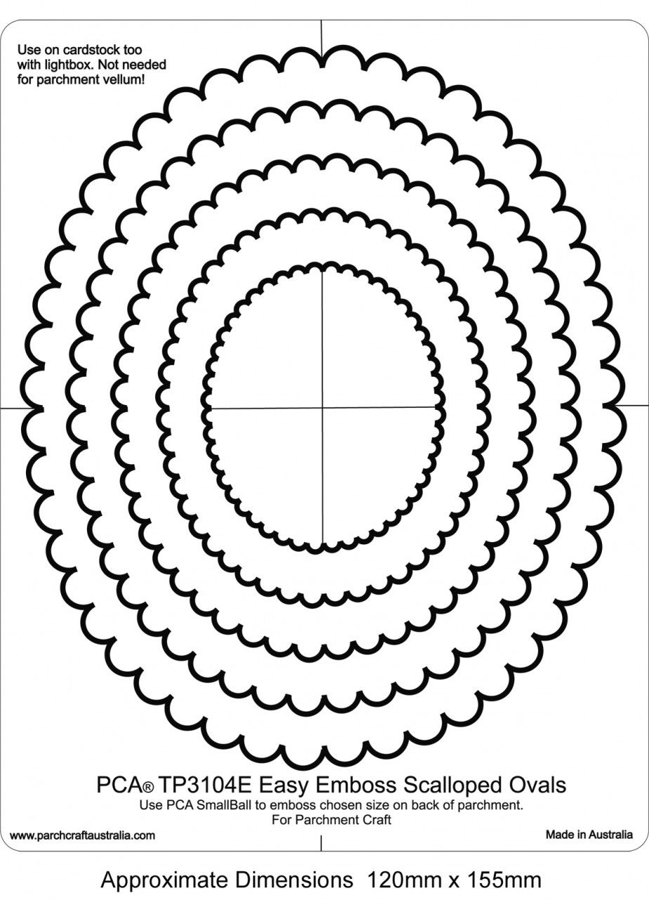 Embossing Easy Oval Scallop Frames Tp3104e Pergamino Pinterest