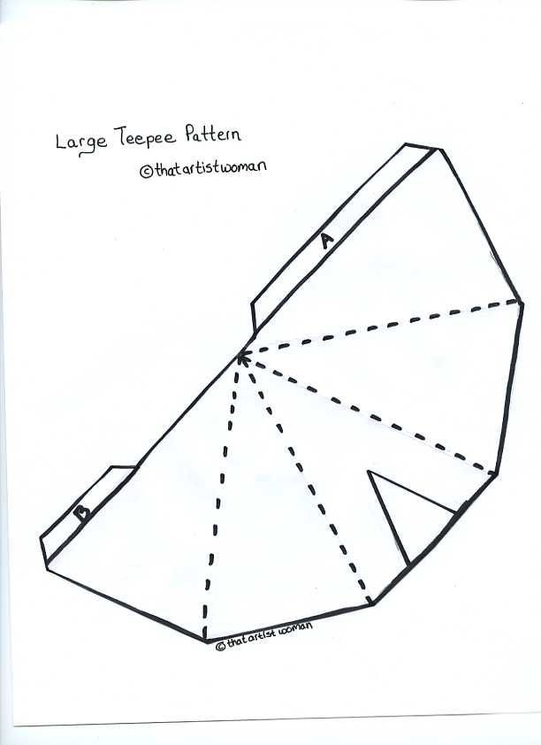 Image result for pattern for teepee patterns pinterest for Teepee craft template