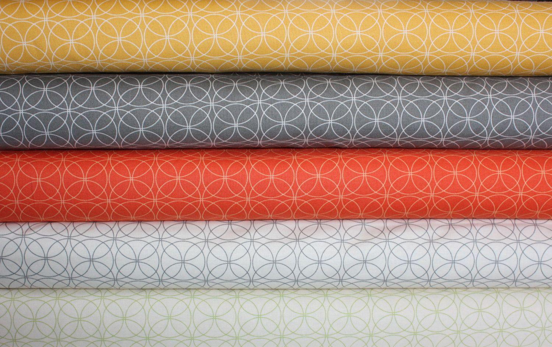 Comma quilt or craft fabric bundle by Zen Chic for Moda- Fat Quarter Bundle, 5 total. $13.75, via Etsy.