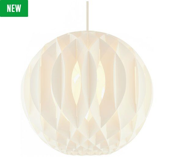 Buy collection hem poly light shade white at argos visit buy collection hem poly light shade white at argos visit aloadofball Gallery