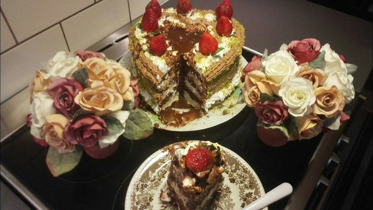 طريقة سهلة وبسيطة لتزيين قالب الكاتو Desserts Food Cake