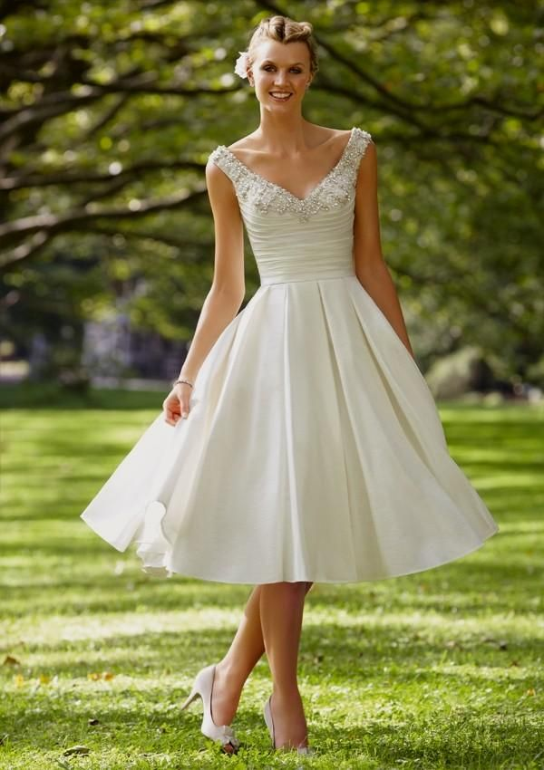 Tea Length Wedding Dresses With Straps All For Women