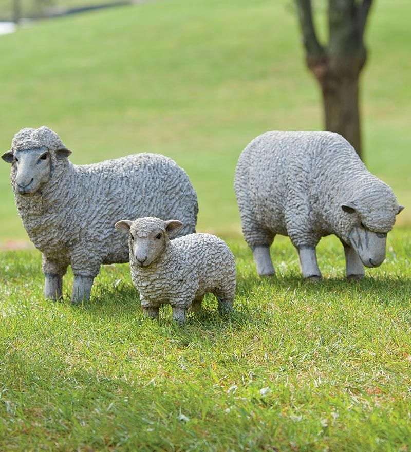 Outdoor Resin Sheep And Lamb Lawn Statues. Why Must They Be So Expensive?