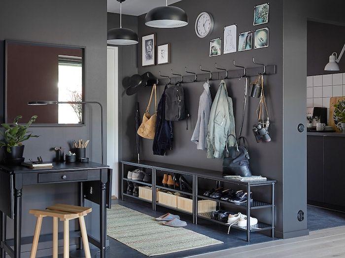 Schlafzimmer Hellblaue Wand Mit Weißen Möbeln: 1001+ Flur Ideen Zum Auffrischen Und Neordnen