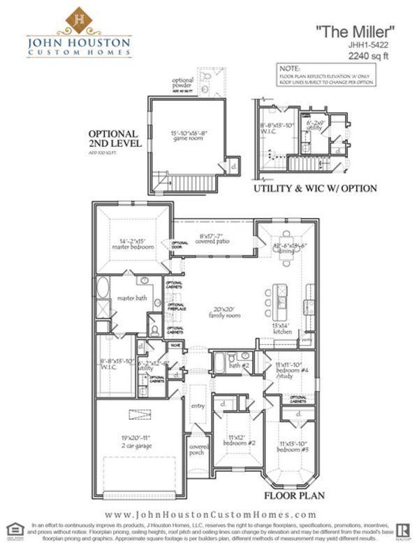 John houston custom home floor plans for Houston home builders floor plans