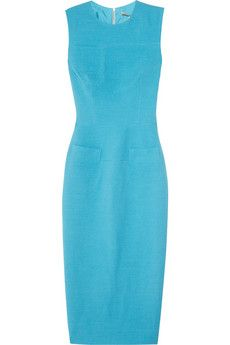 Victoria Beckham   Silk and wool-blend crepe dress    Same Dress Beyonce wore to President Obama Fundraiser week of 3/19/2012