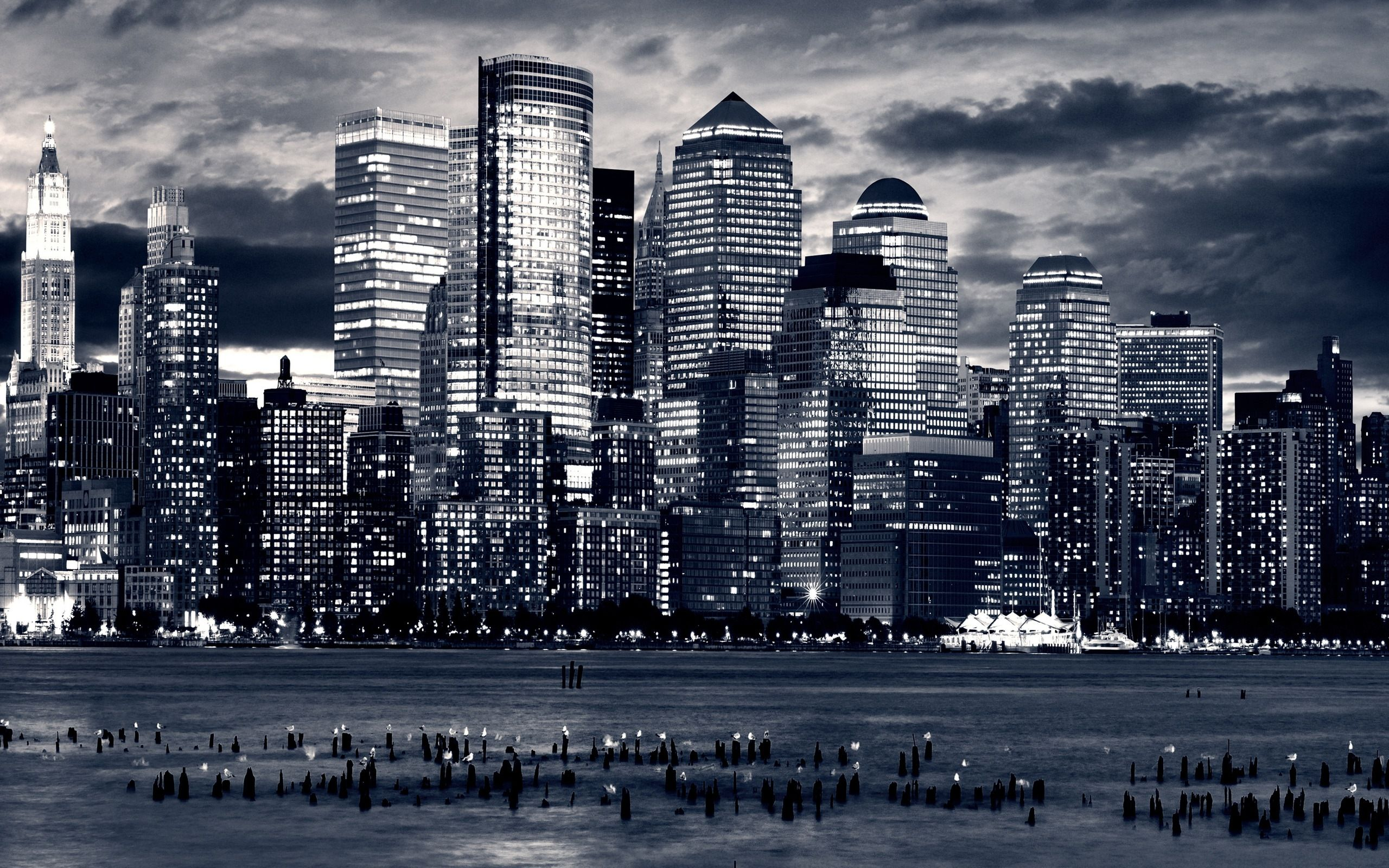 New New York City Black And White Wallpaper Skyline City