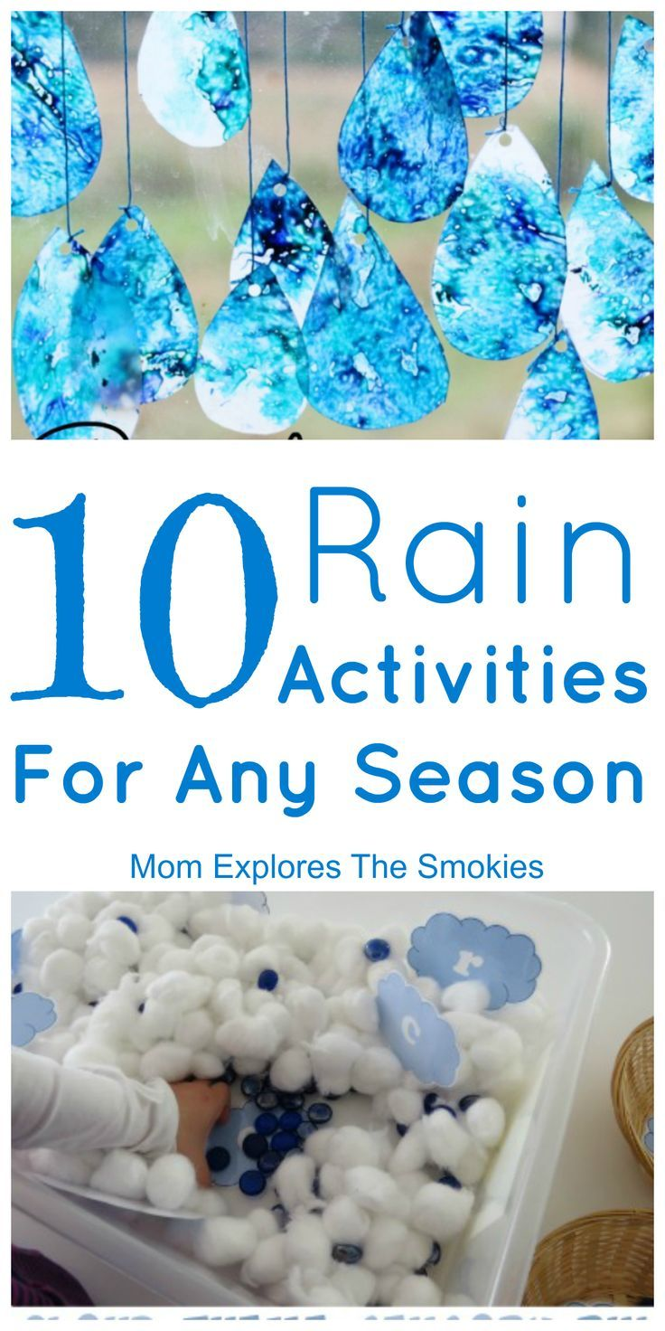 10 Rain Activities For Any Season - Weather activities preschool, Preschool weather, Activities for kids, Cloud activities, Spring activities, Toddler activities - These 10 awesome rain activities bring the wonder of rain to life, both indoors and out