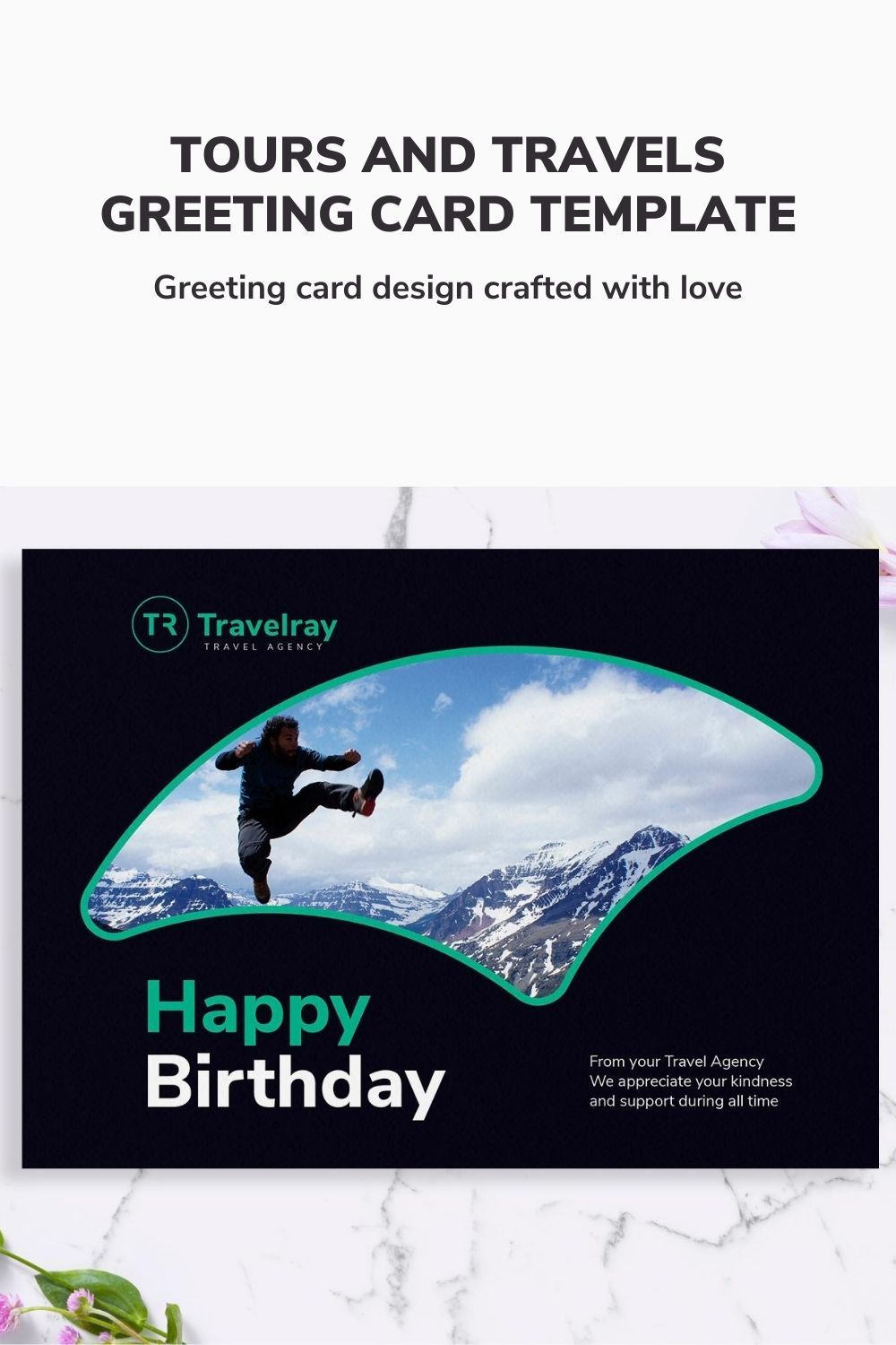 Tours And Travels Greeting Card Template Design In 2020 Greeting Card Template Card Template Travel Graphic Design