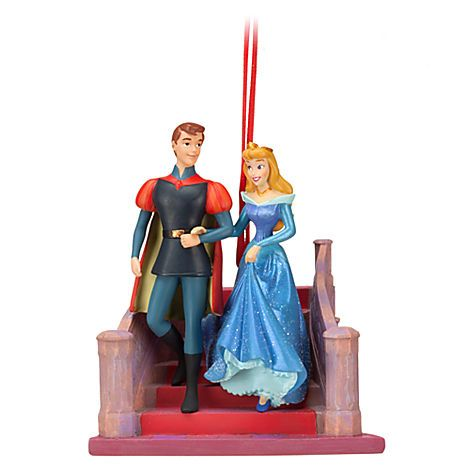 Sleeping Beauty Phillip and Aurora Sketchbook Ornament | Ornaments | Disney Store | $10.50