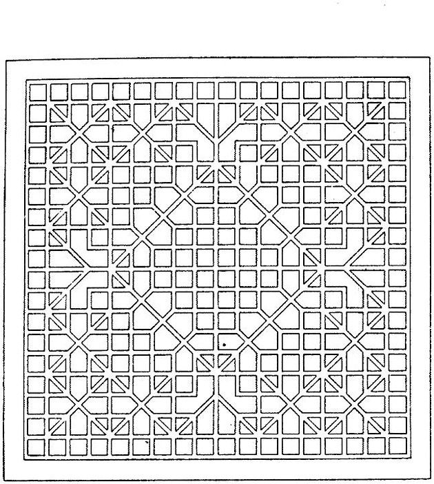 Geometric Art Coloring Book : Geometric shapes cartoon coloring page coloring pinterest