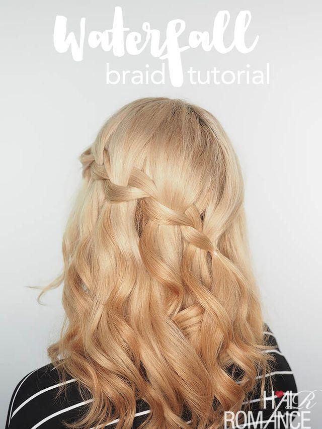 Waterfall braid tutorial video + the fix for dry, damaged hair (Hair ...