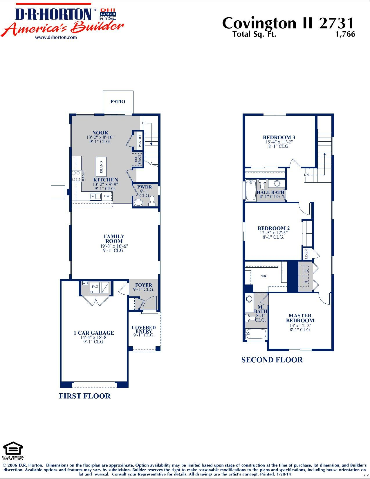 Dr Horton Covington Ii Floor Plan Via