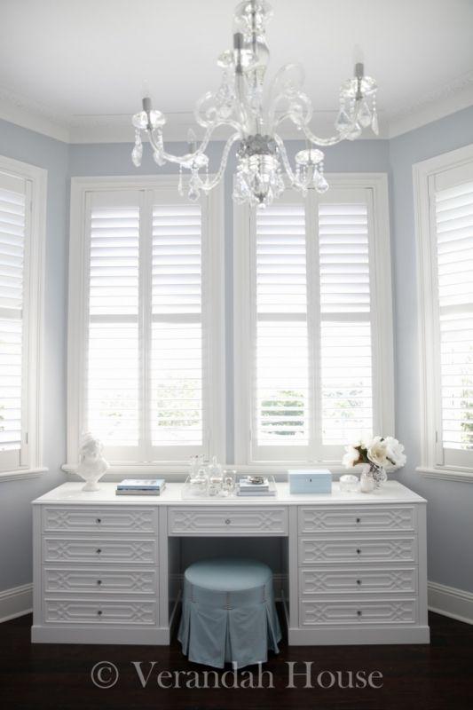 Elegant dressing table and chandilear designed by Verandah House www ...
