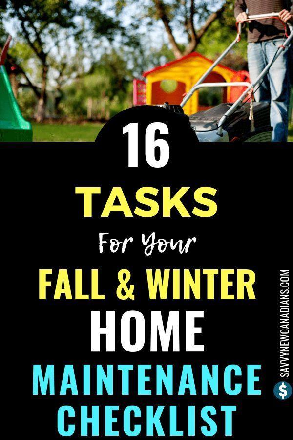Checkliste für die Wartung von Häusern im Herbst und Winter,  #Checkliste #die #für #Häusern …