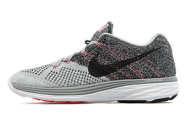 Nike Womens Flyknit Lunar 3 Wolf Grey White Hot Lava Sneakernews Com Womens Sneakers Best Sneakers Nike Women