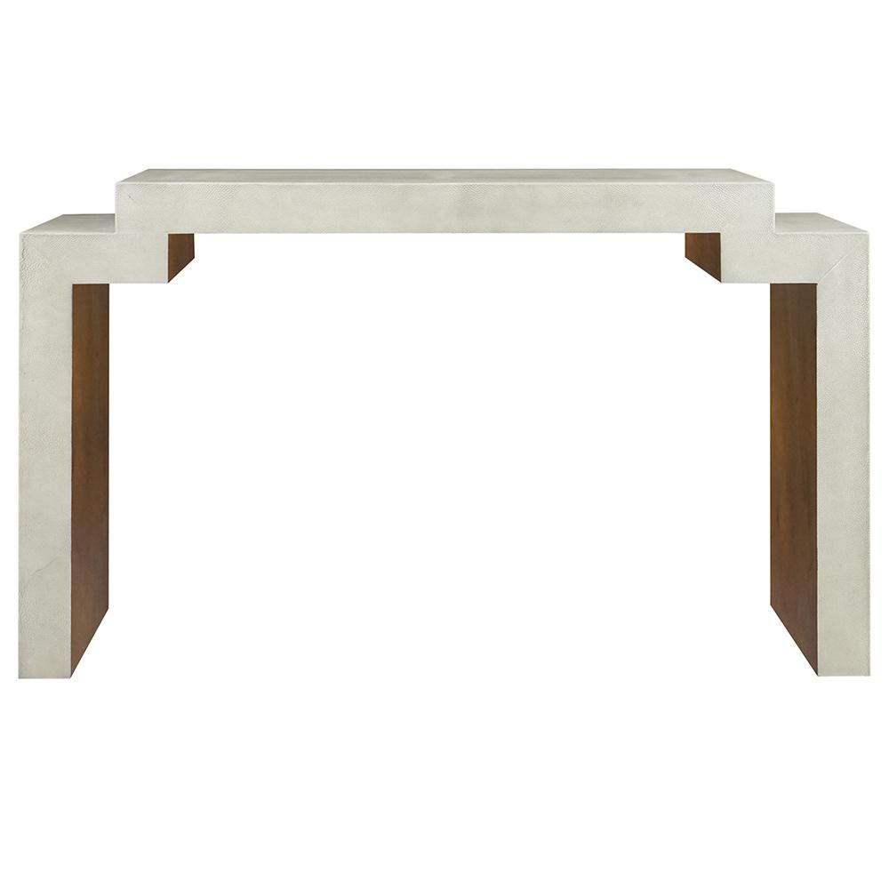 Outstanding Worlds Away Small Nesting Console Table Cream Faux Bralicious Painted Fabric Chair Ideas Braliciousco