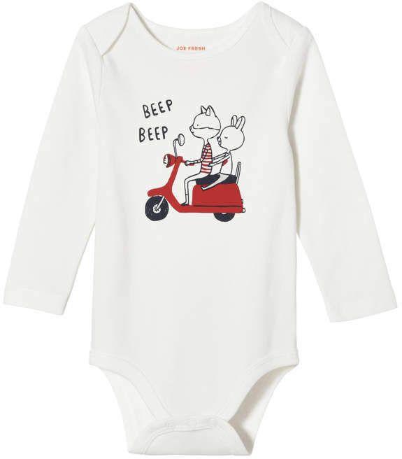 7918baffa Joe Fresh Baby Girls' Pattern Long Sleeve Bodysuit. afflink http://shopstyle