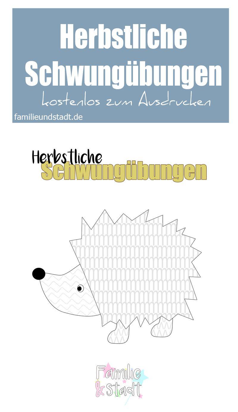 Herbstliche Schwungübungen zum Ausdrucken | Pinterest | Pre-school ...