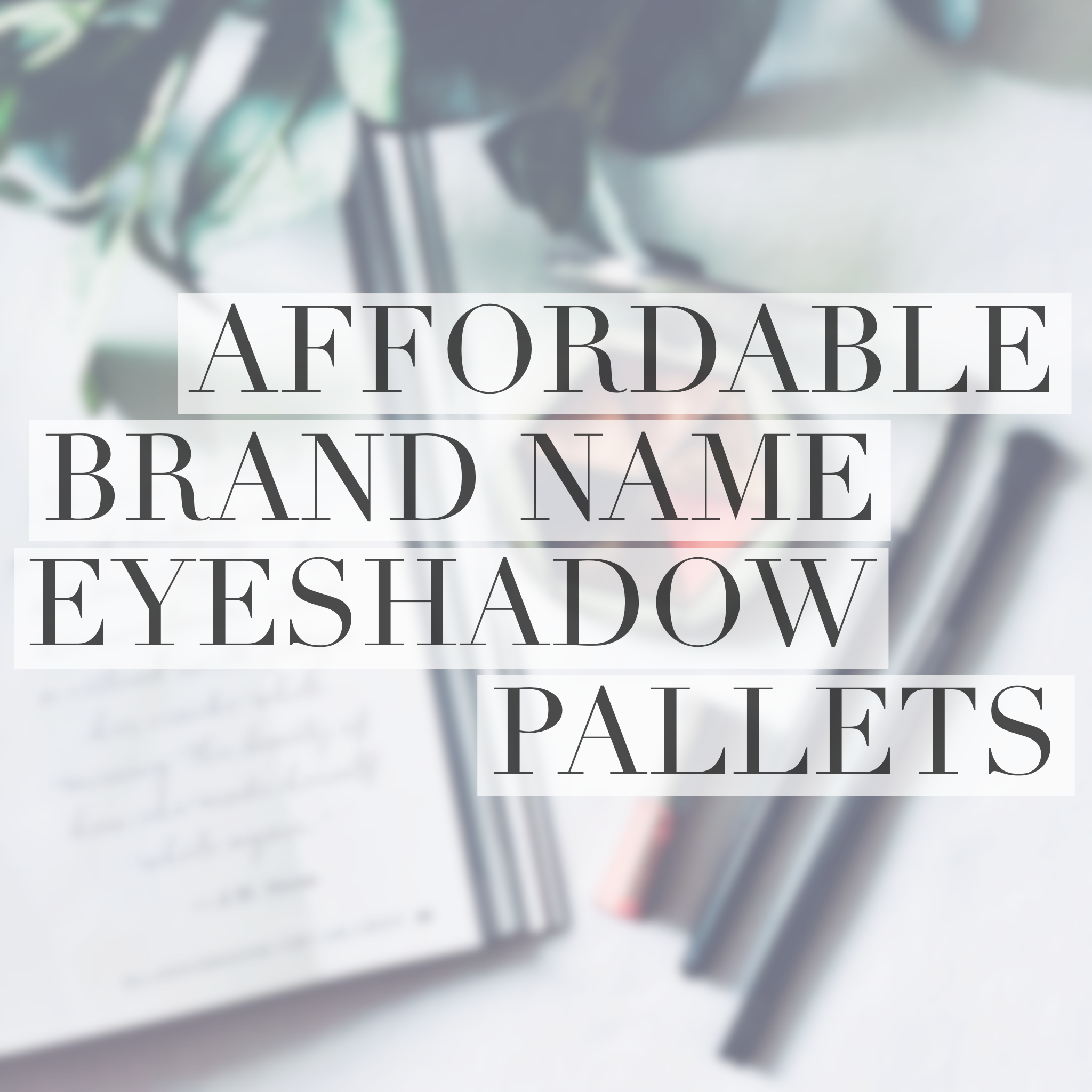 Good Things Come in Small Packages Eyeshadow pallets
