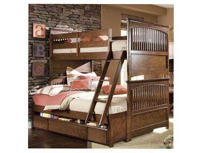 Jason Espresso Wood Storage Stairway Step Ladder Twin Full Bunk
