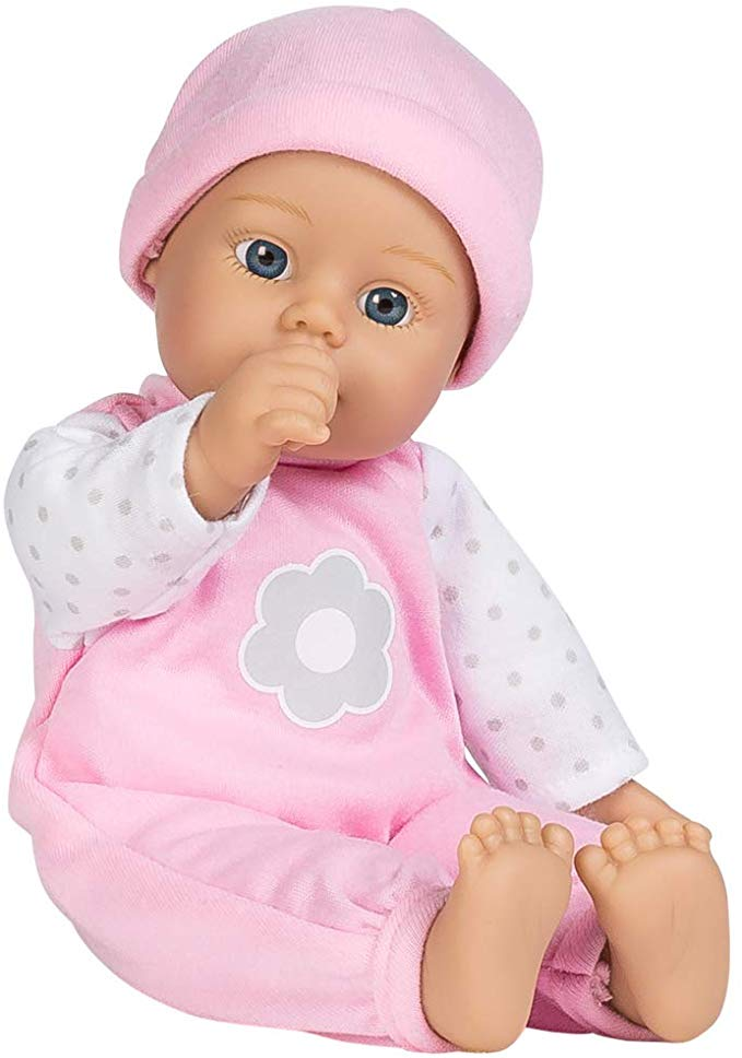 Amazon Com Adora Sweet Baby Girl Blossom 100 Machine Washable 11 Inch Baby Doll With Baby Bottle For 1 Year Old In 2020 Baby Dolls Baby Doll Toys Baby Girl Dolls