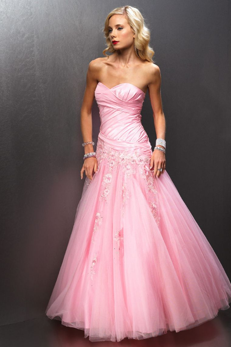 1000  images about Pink Prom Dress on Pinterest  Beaded chiffon ...