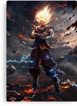 Son Goku Super Saiyan Canvas Print