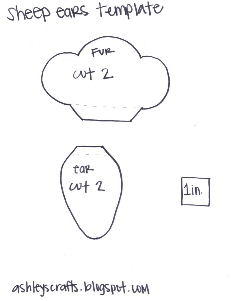 Sheep Ears headband template | Church Ideas | Pinterest | Ear ...