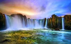 Waterfalls Waterfall Iceland Waterfalls Natural Waterfalls