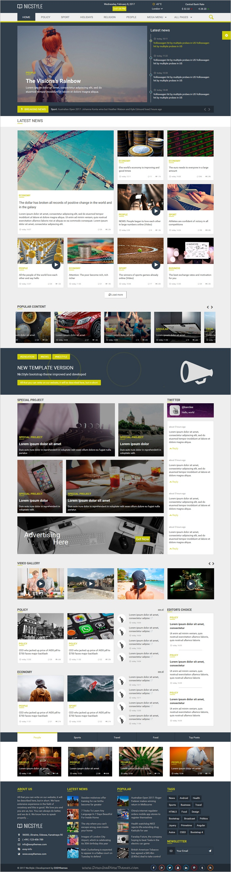 NicStyle is a wonderful responsive #HTML bootstrap template for ...