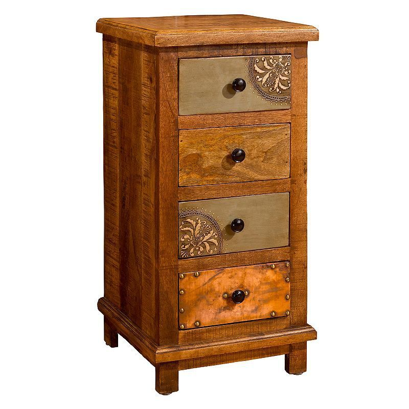 Hillsdale Furniture Belina 4-Drawer Cabinet, Brown