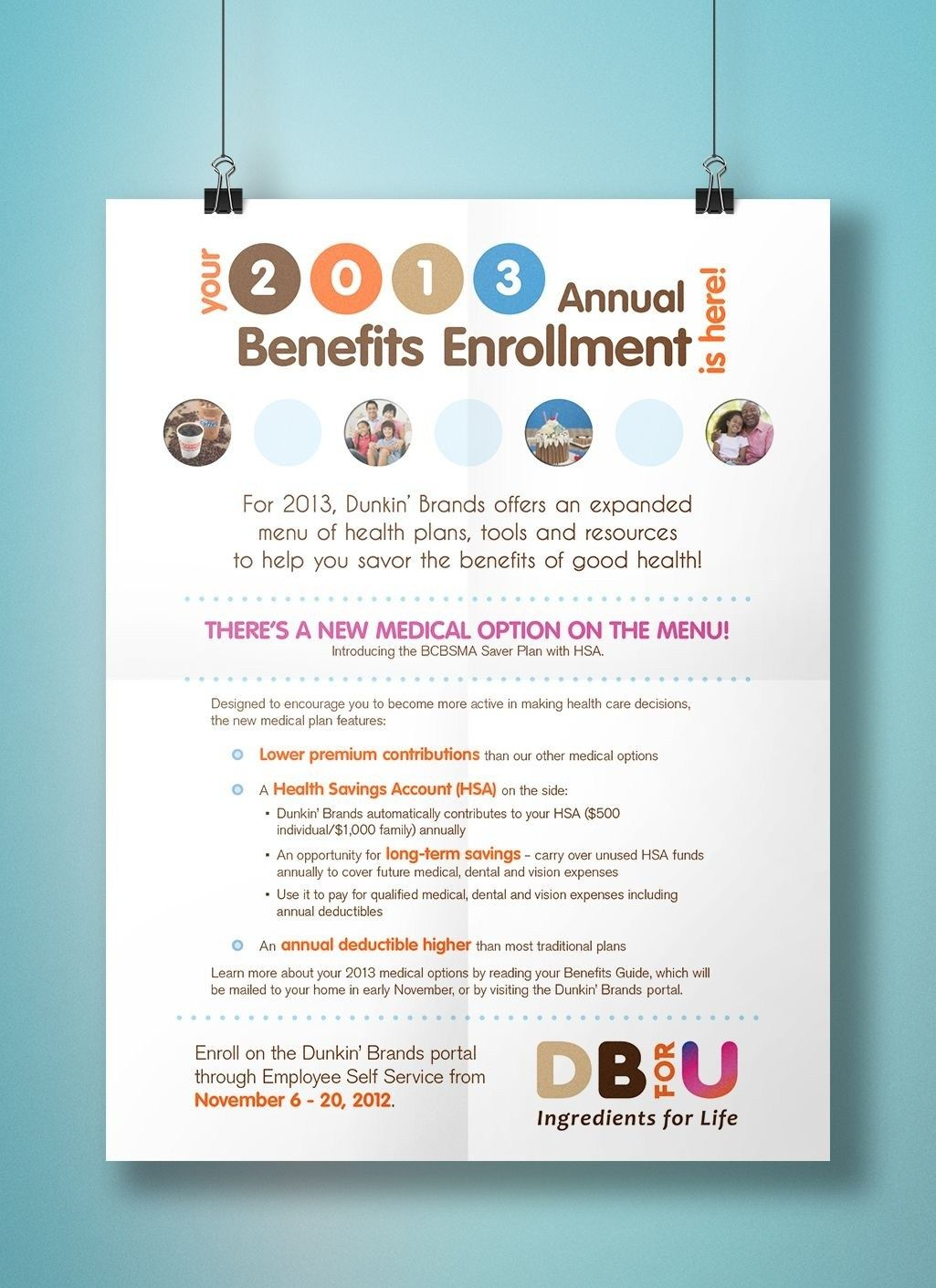 Benefits Open Enrollment Flyer Template Free Download in
