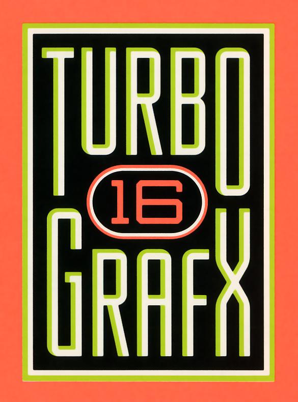 TurboGrafx-16 Logo - 1989   NEC Turbo Grafx video game