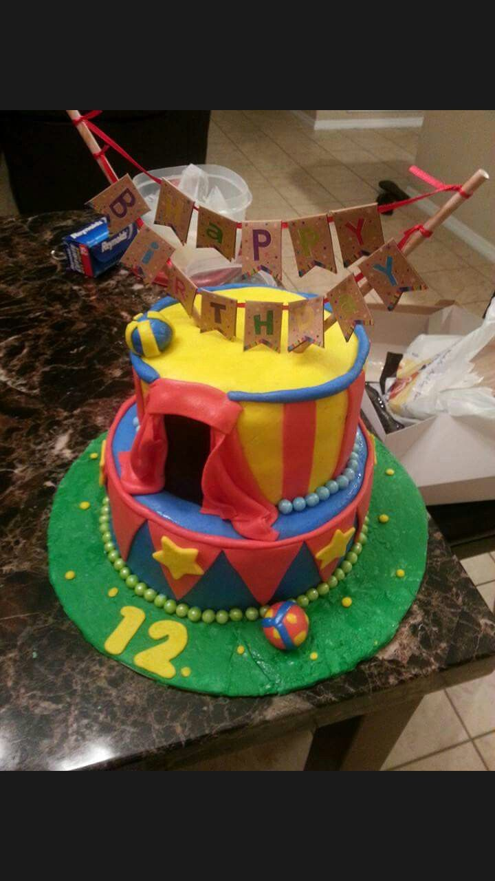 Circus cake My Creations Pinterest Cakes and Circus cakes