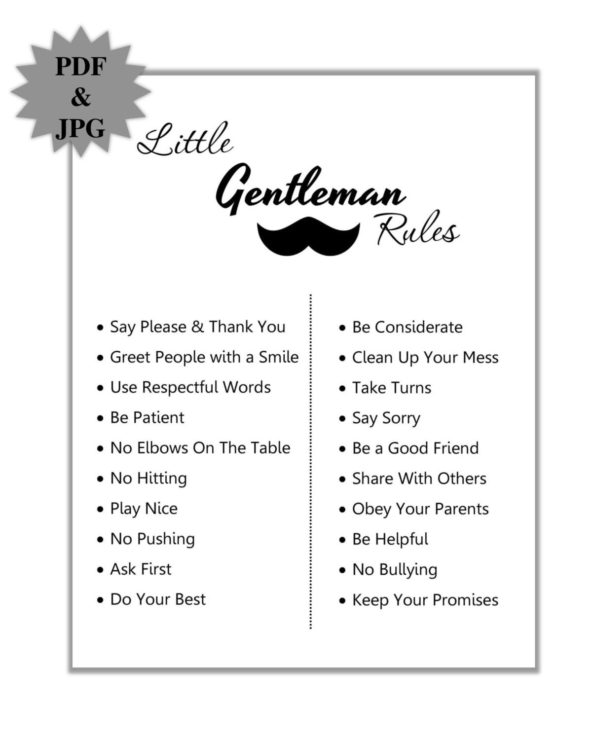 Gentleman Rules Placed In Centerpiece Frames, Designed By Natalie Of The  Big Picture