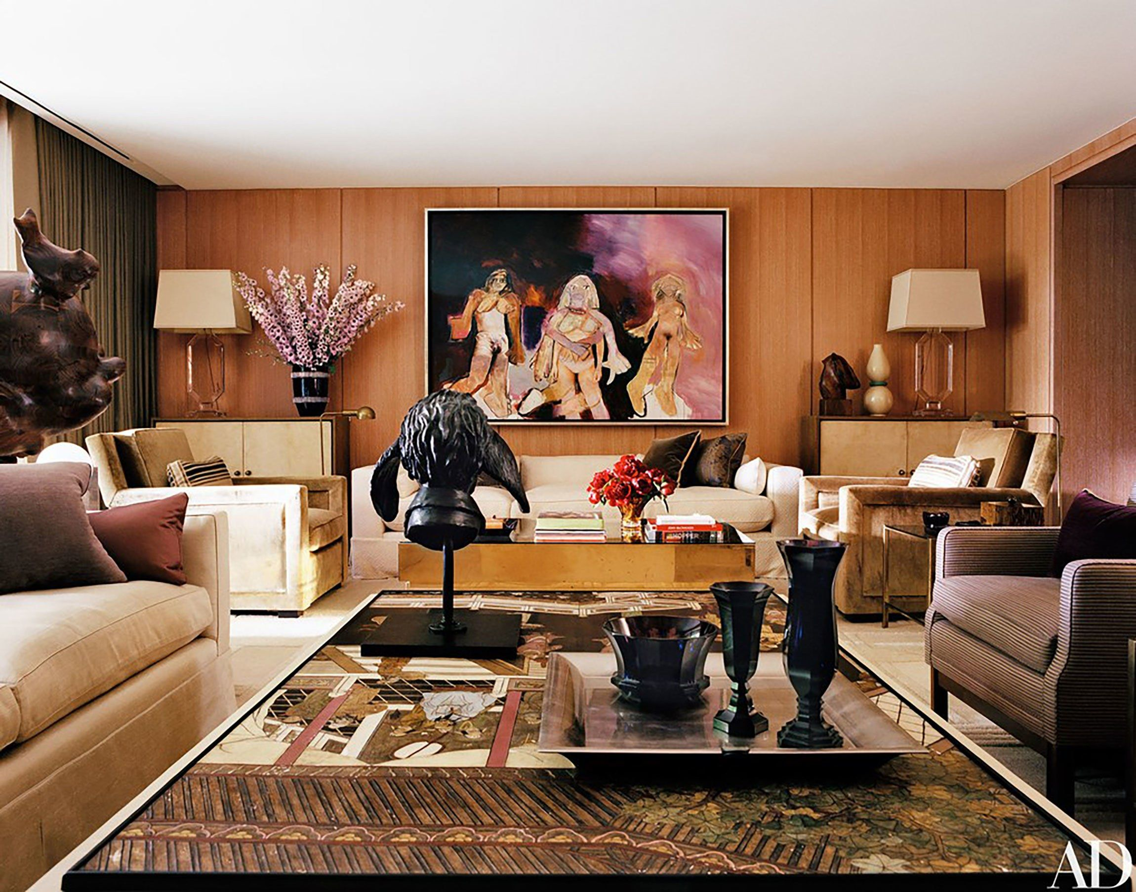 44 of the best living rooms of 2016 interiors new york - Architectural digest celebrity homes 2016 ...